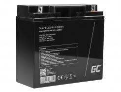 Green Cell® AGM VRLA 12V 15Ah bezobsługowy akumulator do systemu alarmowego kasy fiskalnej zabawki