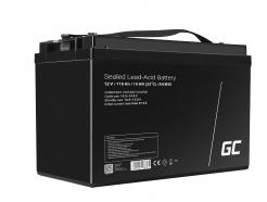 Green Cell® AGM VRLA 12V 110Ah bezobsługowy akumulator do łodzi fotowoltaiki kampera wózka kosiarki
