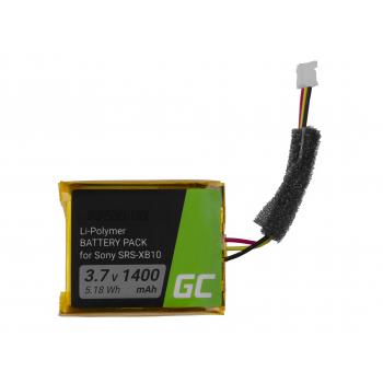 Bateria CP-XB10 SF-08 Green Cell do bezprzewodowego głośnika Bluetooth Sony SRS-XB10 SRS-XB12 Extra Bass 1400mAh 3.7V Li-Polymer