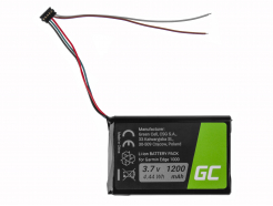 Bateria Green Cell CS-GME100SL DI44EJ18B60HK do Garmin Edge 1000 Garmin 010-01161-00, Li-Ion 1200mAh 3.7V