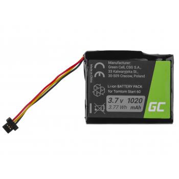 Bateria Green Cell AHA11111003 CS-TMS60SL do TomTom Start 60, Via 1605, TomTom 4EN62, Li-Ion 1200mAh 3.7V