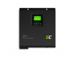 Inwerter solarny falownik Off Grid zładowarką solarną MPPT Green Cell 24VDC 230VAC 3000VA/3000W Czysta sinusoida