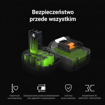Bateria Green Cell (2Ah 14.4V) BL1114 BL1314 BL1514 LB16 do Black&Decker ASD14KB ASD14K ASL148 ASL148KB EGBL14KB ASL146 EGBL14K