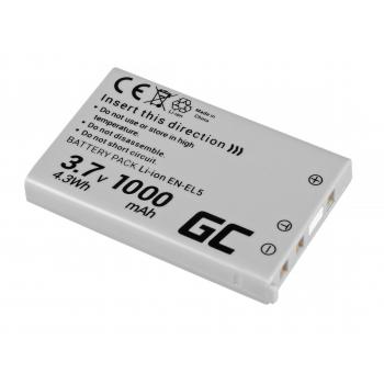 Akumulator Bateria Green Cell ® EN-EL5 do Nikon Coolpix P3 P4 P80 P90 P100 P500 P510 P520 P530 S10 3700 4200 7900 3.7V 1000mAh