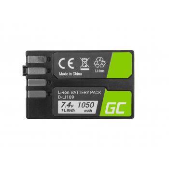 Bateria Green Cell ® D-Li109 DLi109 do Pentax K-r, K-2, K-30, K-50, K-500, K-S1, K-S2 7.4V 1600mAh