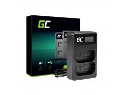 Podwójna Ładowarka DMW-BTC14 Green Cell ® do DMW-BLJ31 Panasonic Lumix S1, S1H, S1K, S1R, S1RM 4.2V 2.5W 0.6A