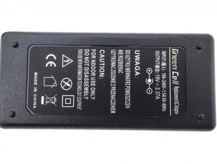 Zasilacz Ładowarka Green Cell do Toshiba Satellite C50D C670D U840 U940 Portege Z30 Z830 Z930 19V 2.37A
