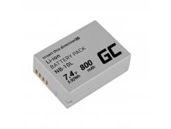 Akumulator Bateria Green Cell ® NB-10L do Canon PowerShot G1 X G3 X SX40 HS SX50 HS SX60 HS G15 G16, Full Decoded, 7.4V 800mAh