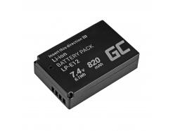 Akumulator Bateria Green Cell ® LP-E12 LPE12 do Canon EOS 100D M M10 M2 M50 MK II M100 Rebel SL1 7.4V Full Decoded 7.4V 820mAh