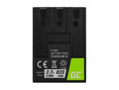 Akumulator Bateria Green Cell ® NB-3L do Canon Digital IXUS II/Iis i5 L3 30 D30 600 750 PowerShot SD10 SD100 SD550 3.7V 820mAh