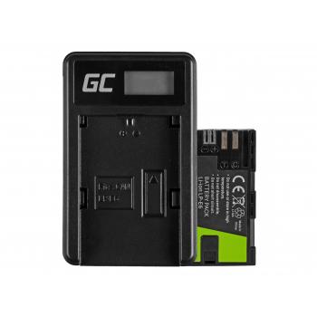 Bateria LP-E6 i Ładowarka LC-E6 Green Cell ® do Canon EOS 70D, 5D Mark II/ III, 80D, 7D Mark II, 60D, 6D, 7D 7.4V 1900mAh
