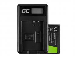 Bateria LP-E10 i Ładowarka LC-E10 Green Cell ® do Canon EOS Rebel T3, T5, T6, Kiss X50, Kiss X70, EOS 1100D, 7.4V 950mAh