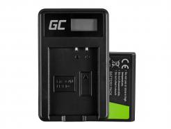 Bateria LP-E10 i Ładowarka LC-E10 Green Cell ® do Canon EOS Rebel T3, T5, T6, Kiss X50, Kiss X70, EOS 1100D 7.4V 1100mAh