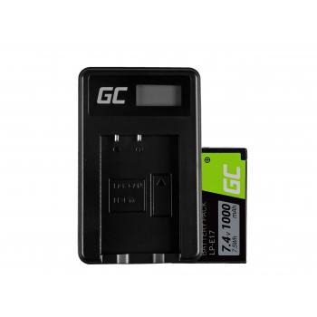 Bateria LP-E17 i Ładowarka LC-E17 Green Cell ® do Canon EOS 77D, 750D, 760D, 8000D, M3, M5, M6, Rebel T6i 7.4V 1000mAh