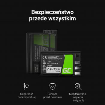 Akumulator Bateria Green Cell ® LI-50B do Olympus Tough TG-810 TG-610 6000 Stylus 1010 1020 SP-720UZ SP-800UZ SZ-20 3.7V 770mAh