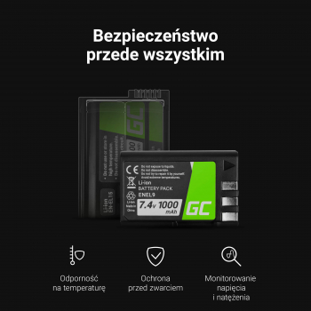 Akumulator Bateria Green Cell ® NP-FW50 do Sony Alpha A7 A7S A7R A5000 A5100 A6000 A6300 A6500 RX10 II/III NEX-3 ZV-E10 7.4V 103