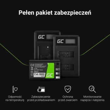 Ładowarka MH-65 Green Cell ® do Nikon EN-EL12, Coolpix A900 P300 P310 P330 S31 S70 S710 S6000 W300 (4.2V 2.5W 0.6A)