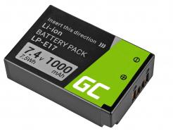 Akumulator Bateria Green Cell ® LP-E17 do Canon EOS 77D 750D 760D 8000D Rebel T6i T6s Kiss X8i Half-Decoded 7.4V 1000mAh