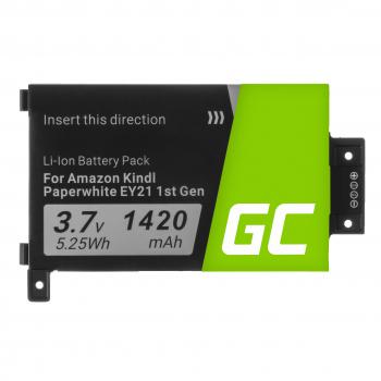 Bateria Green Cell 58-000008 do czytnika e-book Amazon Kindle Paperwhite I 1st 3G EY21 B01B B01C B020 B024 5th Gen, 1420mAh