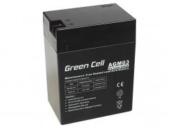 Akumulator bezobsługowy AGM VRLA Green Cell 6V 14Ah do systemów alarmowych i zabawek