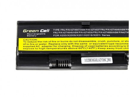 Bateria akumulator Green Cell do laptopa Lenovo IBM Thinkpad X200 7454T X200 7455 10.8V 6 cell