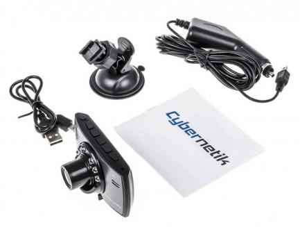 Rejestrator samochodowy Cybernetik Full HD z obsługą trybu nocnego