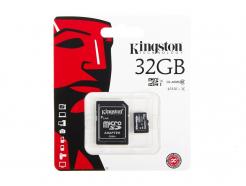 Karta Pamięci Kingston microSD 32GB Class 10 45MB/s + Adapter SD