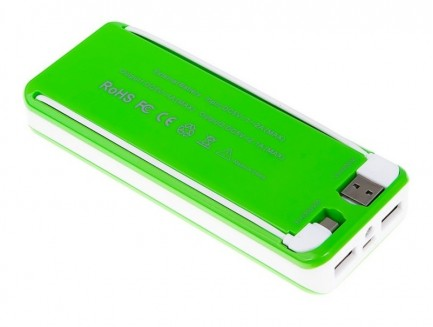 Power Bank Green Cell 13000mAh z wbudowanym kablem