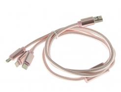 Kabel Przewód USB - microUSB / lightning / USB typ C