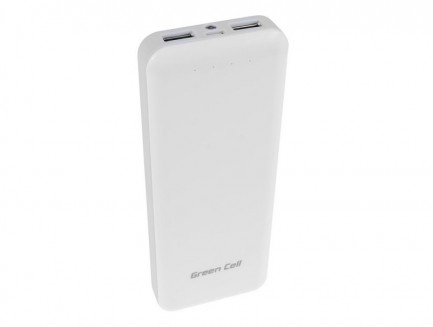 Power Bank Green Cell 12300mAh z wbudowanym kablem