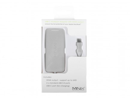 Minix NEO C Mini Adapter USB-C Multiport (Port USB-C, HDMI, 2xUSB 3.0)