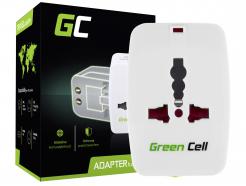 Uniwersalny Adapter Podróżny, Przejściówka Green Cell ® do Gniazdka Elektrycznego USA / UK / AUS / Chiny