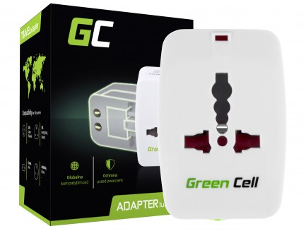 Adapter Przejściówka do Gniazdka Elektrycznego Green Cell ® Uniwersalny
