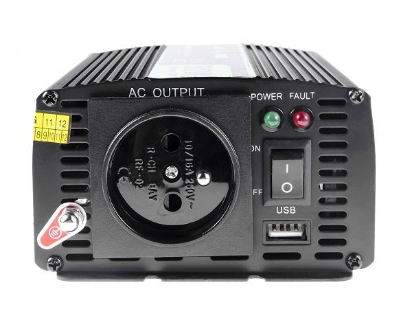 Przetwornica samochodowa napięcia 12V do 230V 500W 1000W