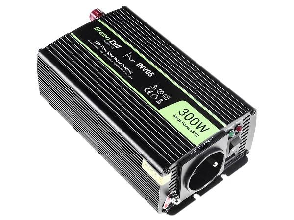 Przetwornica samochodowa napięcia 12V do 230V 300W 600W pełna sinusoida