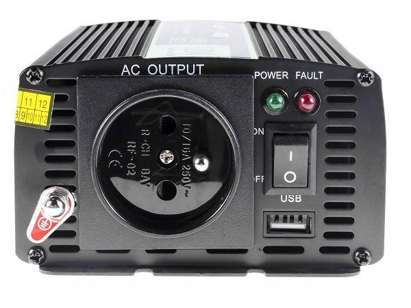 Przetwornica samochodowa napięcia 12V do 230V 300W 600W