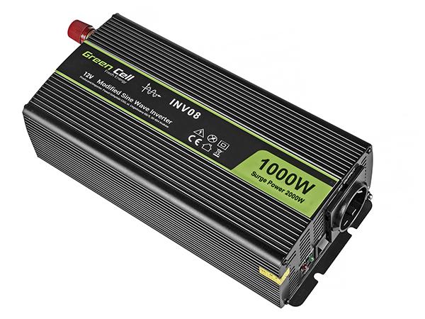 Przetwornica samochodowa napięcia 12V do 220V 1000W 2000W pełna sinusoida