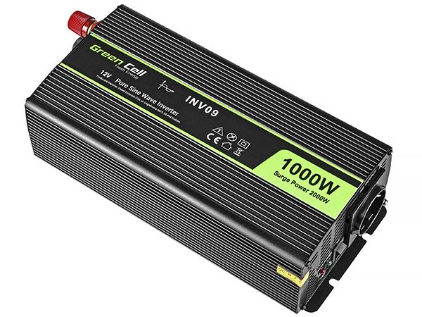 Przetwornica samochodowa napięcia 12V do 230V 1000W 2000W pełna sinusoida