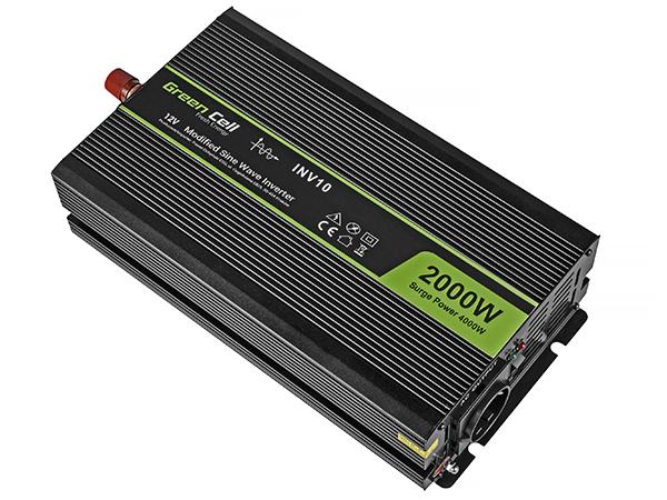 Przetwornica samochodowa napięcia 12V do 220V 2000W 4000W pełna sinusoida
