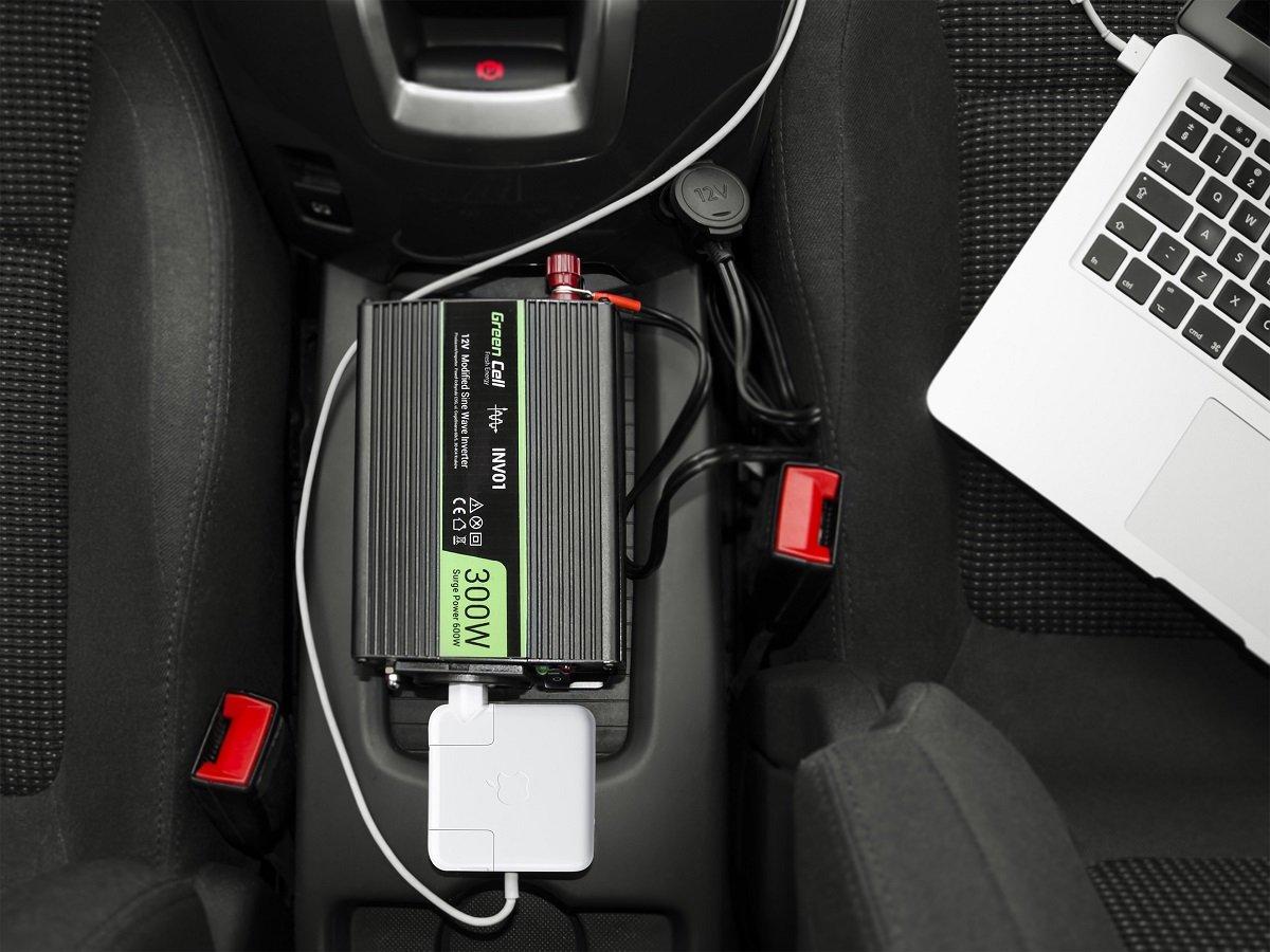 Przetwornica samochodowa napięcia 12V do 230V 500W 1000W - zawartość zestawu
