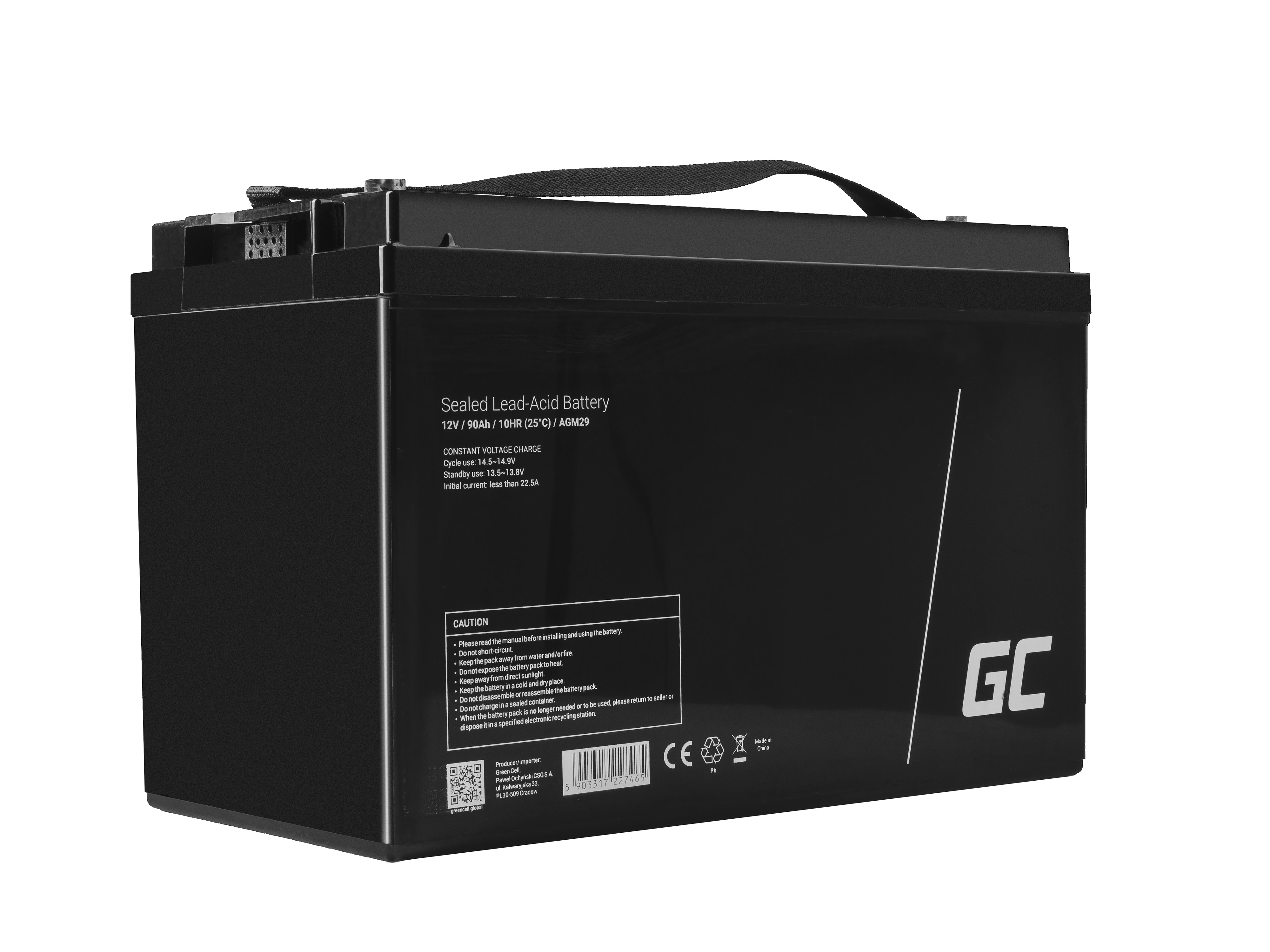 Green Cell AGM0 12V 90Ah
