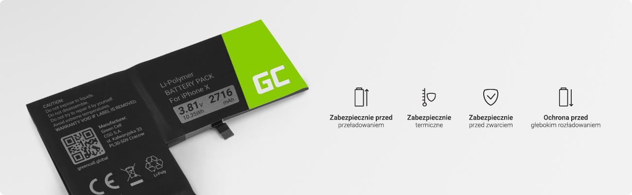 zabezpieczenia baterii