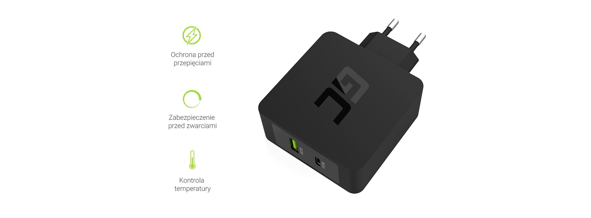 Ładowarka USB-C Power Delivery 30W - Zabezpieczenia