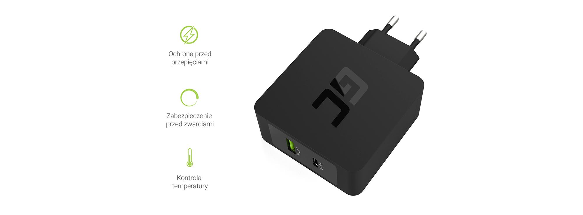 Ładowarka USB-C Power Delivery 18W - Zabezpieczenia
