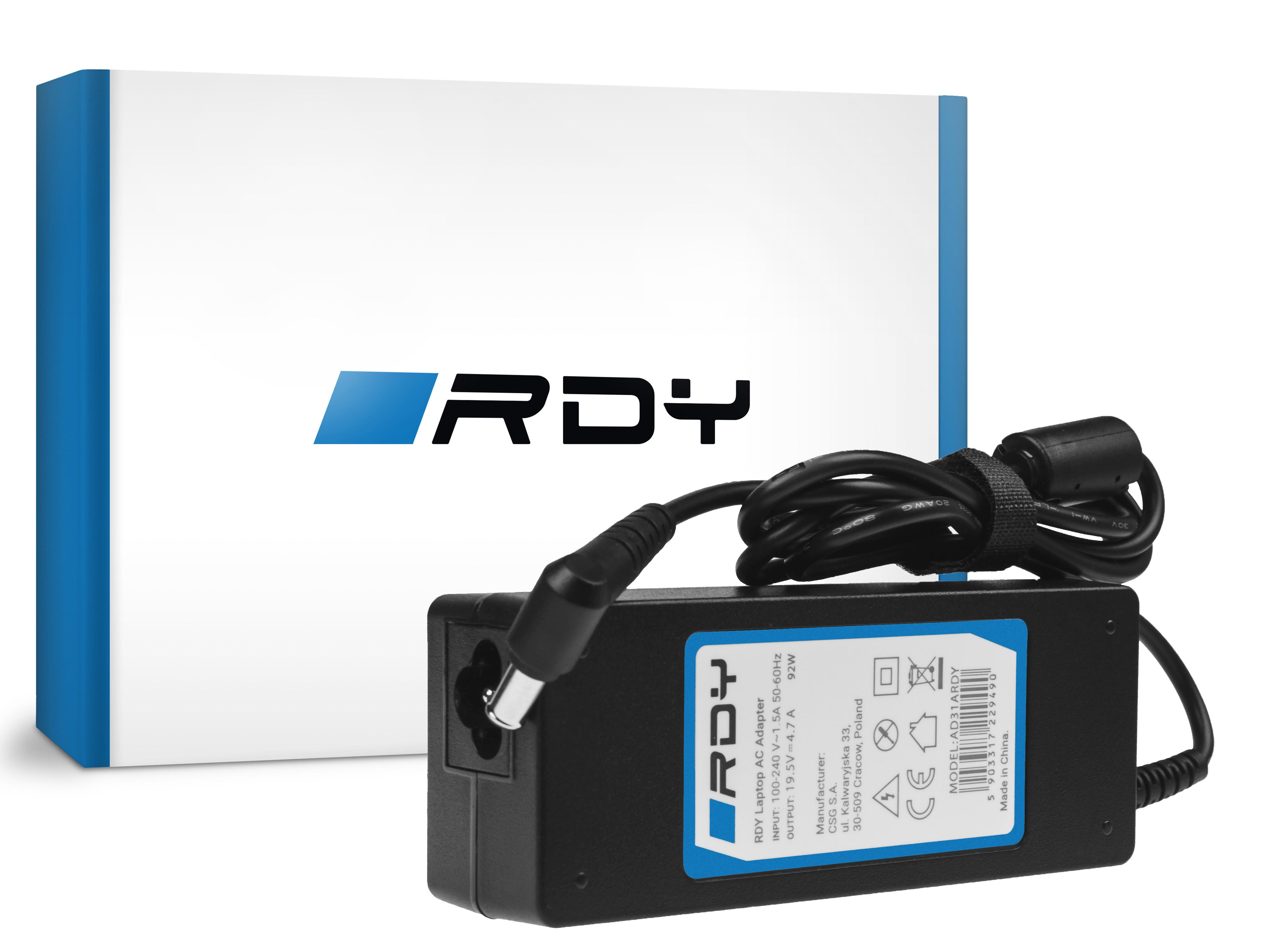 Zasilacz Ładowarka RDY 19.5V 4.7A 90W do Sony Vaio PCG 61211M PCG 71211M PCG 71811M PCG 71911M Fit 15 15E SVF152A29M