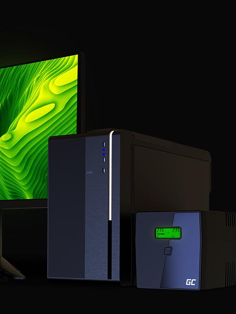 230V Alimentation d/énergie Non interruptible Line-Interactive AVR Onde sinuso/ïdale Pure Alimentation sans Interruption USB//RJ45 2X Schuko 2X IEC Green Cell/® UPS Onduleur 1000VA 700W