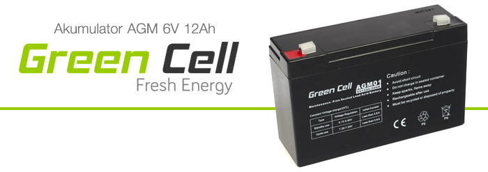 AGM Green Cell 6V 12Ah Fresh Energy