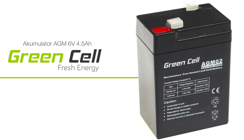 AGM Green Cell 6V 4.5Ah Fresh Energy