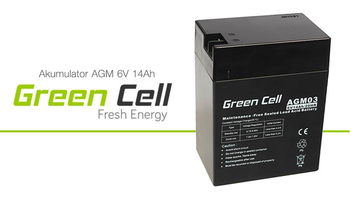 AGM Green Cell 6V 4.5Ah Fresh Energy
