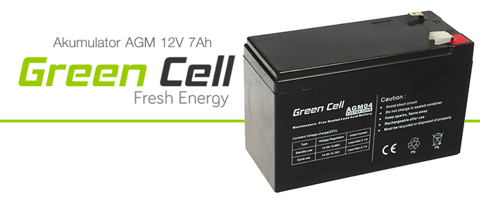 AGM Green Cell 12V 7Ah Fresh Energy